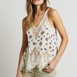 NWT FREE PEOPLE Bell Trapeze Lace Cami Tea Combo M